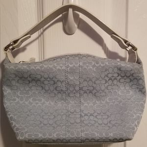 Coach Baby Blue Signature Purse Bag